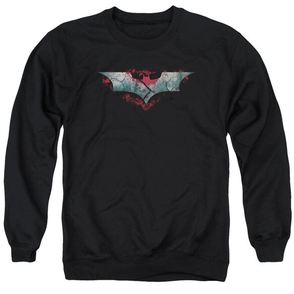 Dark Knight Rises Split &Amp; Crack Logo Adult Crewneck Sweatshirt