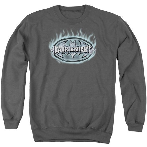 Batman Dark Knight Steel Shield Adult Crewneck Sweatshirt