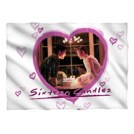 Sixteen Candles Heart Pillow Case White