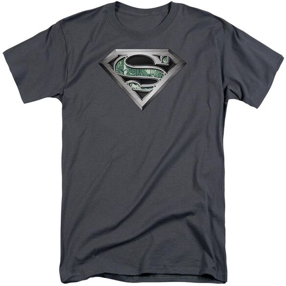 Superman Circuitry Logo Short Sleeve Adult Tall T-Shirt