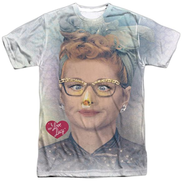I Love Lucy Oh Nose Short Sleeve Adult Poly Crew T-Shirt