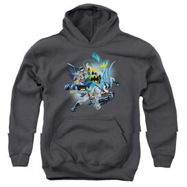 BATMAN CALL OF DUTY-YOUTH PULL-OVER HOODIE - CHARCOAL