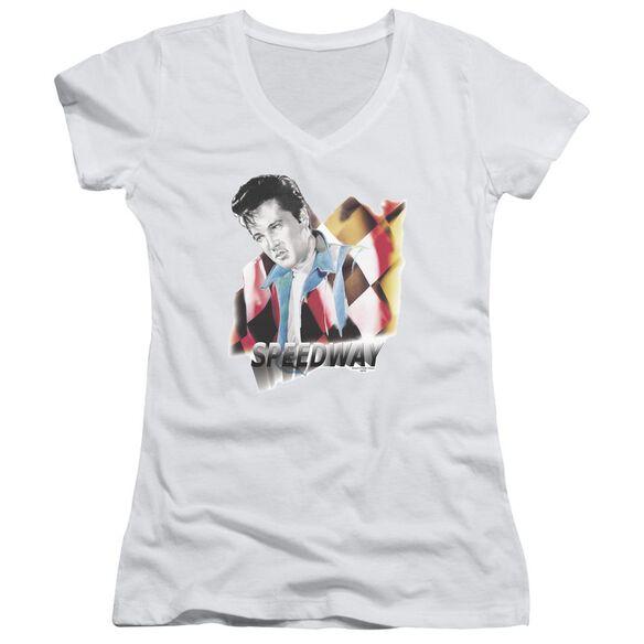 Elvis Speedway Junior V Neck T-Shirt
