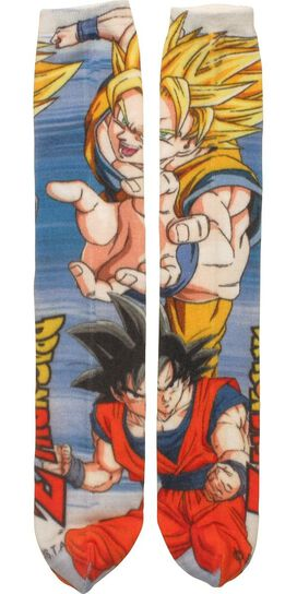 Dragon Ball Z Goku Super Saiyan Crew Cut Socks