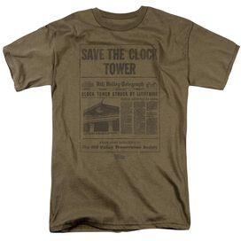 Back To The Future Clock Tower Short Sleeve Adult Safari Safari T-Shirt