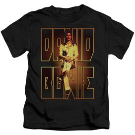 David Bowie Perched Short Sleeve Juvenile Black T-Shirt