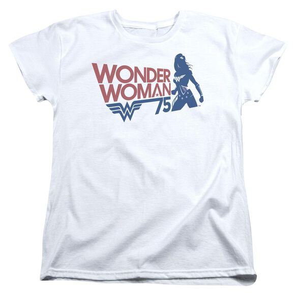 Wonder Woman Ww75 Silhouette Short Sleeve Womens Tee T-Shirt