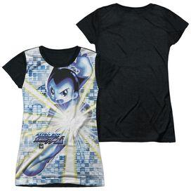 Astro Boy Beams Short Sleeve Junior Poly Black Back T-Shirt