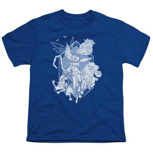 Rise Of The Guardians Coming For You Short Sleeve Youth Royal T-Shirt