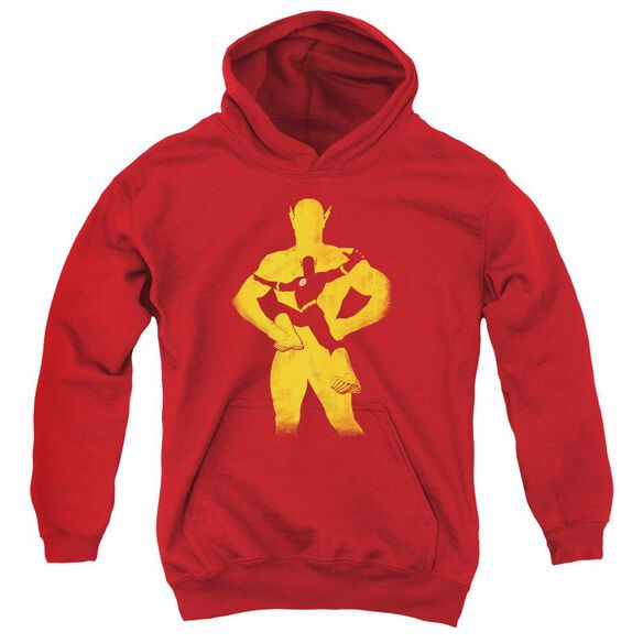 Jla Flash Knockout Youth Pull Over Hoodie