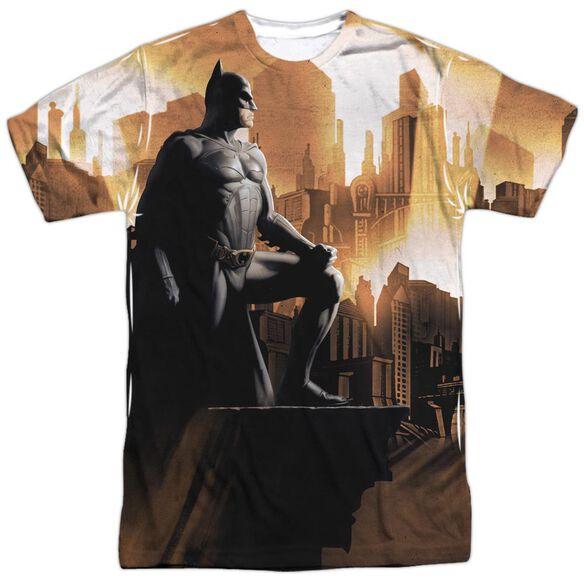 Batman Begins My City Short Sleeve Adult Poly Crew T-Shirt