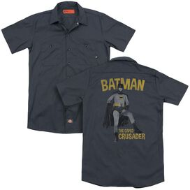 Batman Classic Tv Caped Crusader(Back Print) Adult Work Shirt
