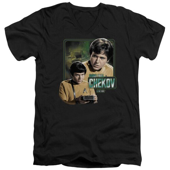 Star Trek Ensign Chekov Short Sleeve Adult V Neck T-Shirt