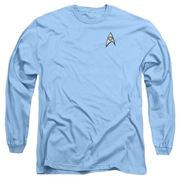 Star Trek Science Uniform Long Sleeve Adult Carolina T-Shirt
