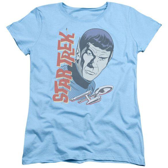 Star Trek Vintage Spock Short Sleeve Womens Tee Light T-Shirt