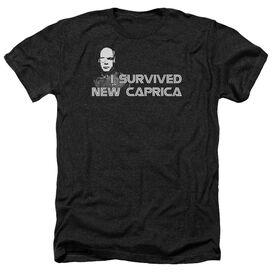 Bsg I Survived New Caprica - Adult Heather - Black