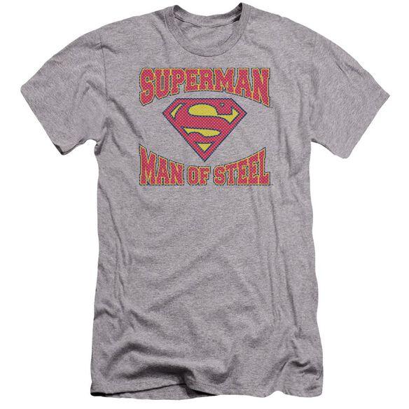 Superman Man Of Steel Jersey Premuim Canvas Adult Slim Fit Athletic