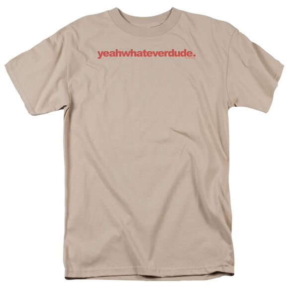Yeahwhateverdude Short Sleeve Adult Sand T-Shirt