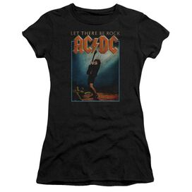 Acdc Let There Be Rock Short Sleeve Junior Sheer T-Shirt