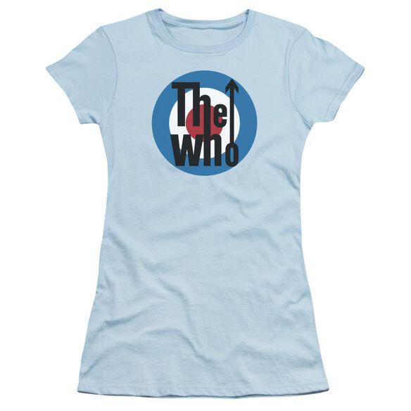 The Who Logo Short Sleeve Junior Sheer Light T-Shirt