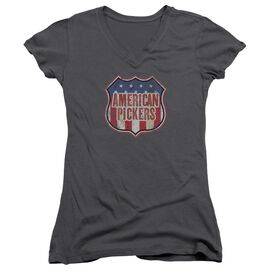 American Pickers Vintage Sign Junior V Neck T-Shirt