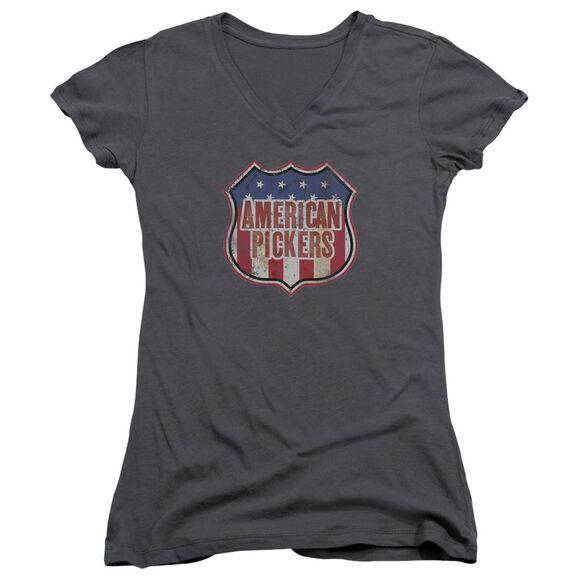 American Pickers Vintage Sign Junior V Neck T-Shirt