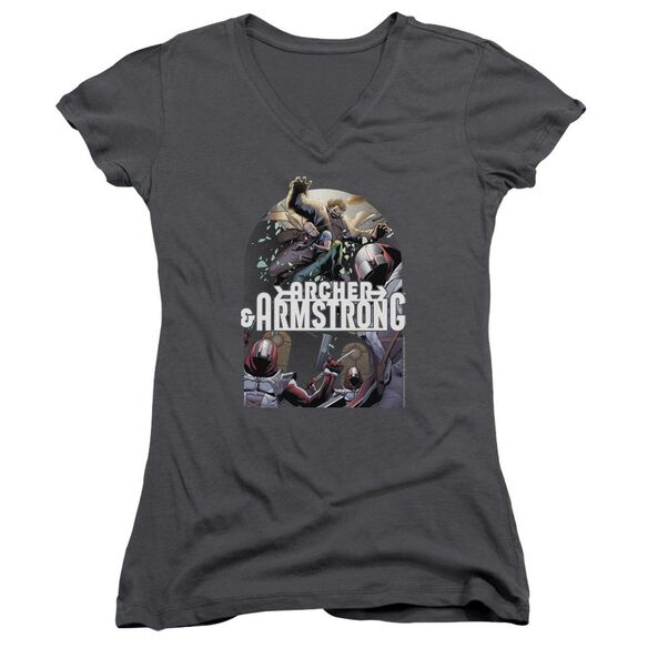 Archer & Armstrong Dropping In Junior V Neck T-Shirt