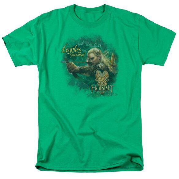 Hobbit Greenleaf Short Sleeve Adult Kelly Green T-Shirt
