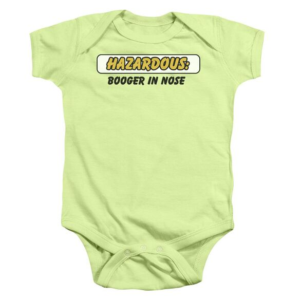 Hazardous Infant Snapsuit Soft Green Md