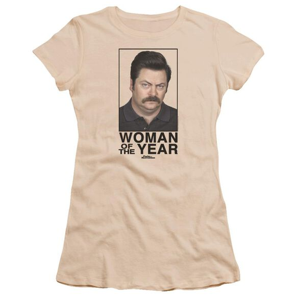 Parks And Rec Woman Of The Year Premium Bella Junior Sheer Jersey