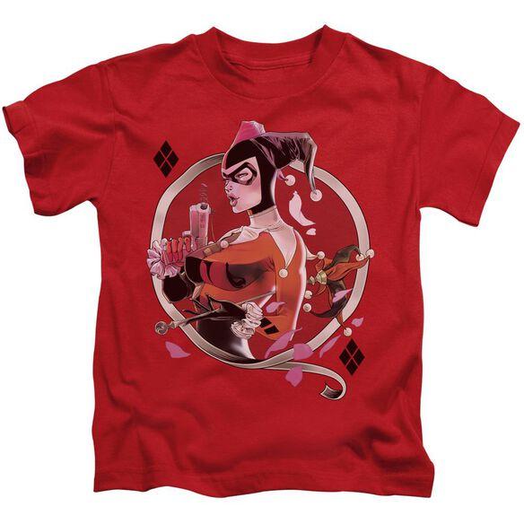 Batman Harley Q Short Sleeve Juvenile Red T-Shirt