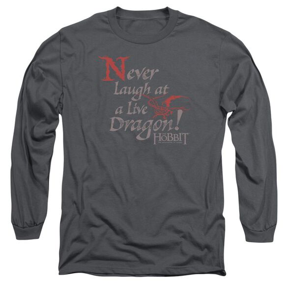 Hobbit Never Laugh Long Sleeve Adult T-Shirt