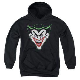 Batman Bb Animated Joker Head Youth Pull Over Hoodie