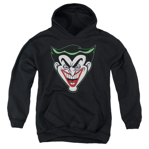 Batman Bb Animated Joker Head Youth Pull Over Hoodie