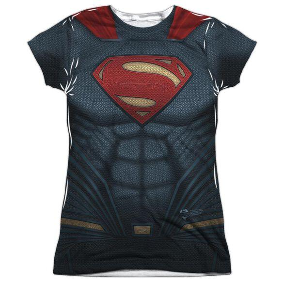 Batman V Superman Superman Uniform Short Sleeve Junior Poly Crew T-Shirt