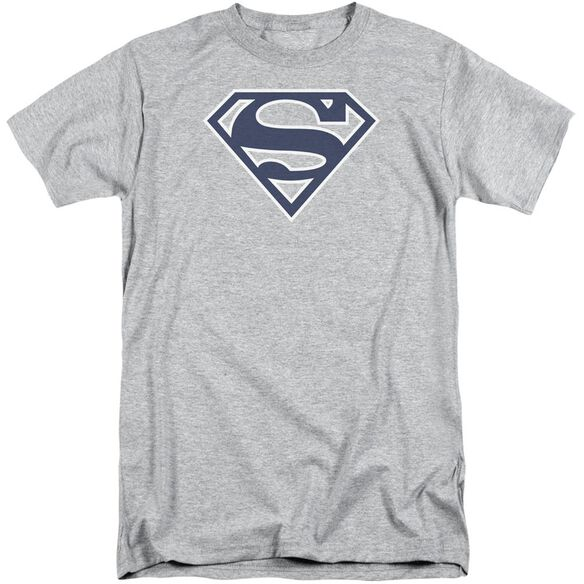 Superman Navy & White Shield Short Sleeve Adult Tall Athletic T-Shirt
