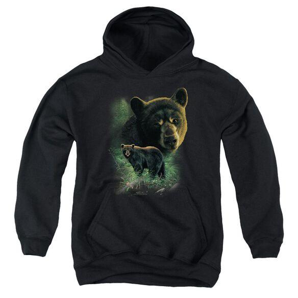 Wildlife Bears Youth Pull Over Hoodie