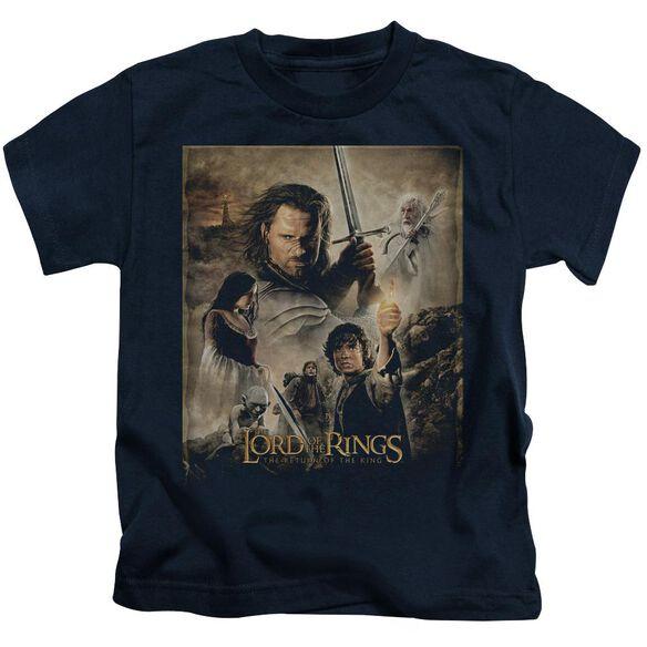 Lor Rotk Poster Short Sleeve Juvenile Black T-Shirt
