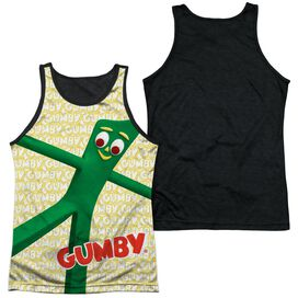Gumby Stretched Adult Poly Tank Top Black Back