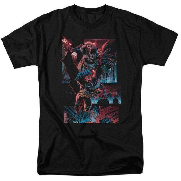 Batman Dark Knight Panels Short Sleeve Adult Black T-Shirt