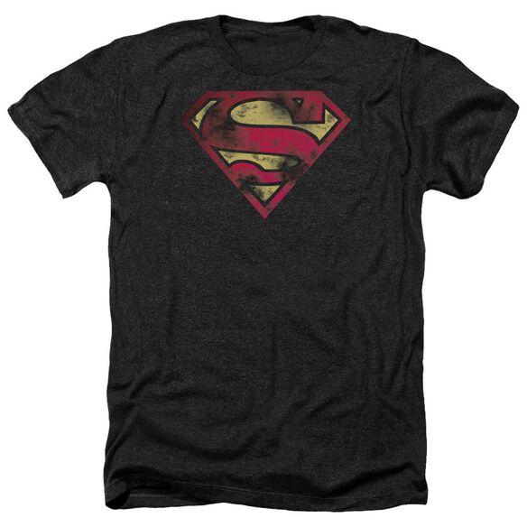 Superman War Torn Logo Adult Heather