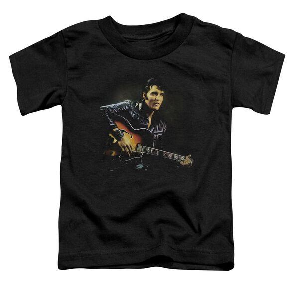 Elvis 1968 Short Sleeve Toddler Tee Black Sm T-Shirt