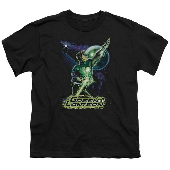 Jla Hal Galaxy Short Sleeve Youth T-Shirt