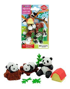 Panda Bear Family Eraser Set