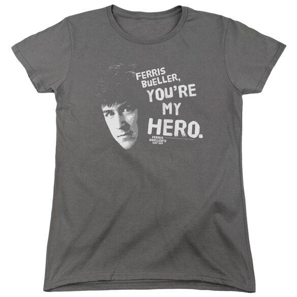 Ferris Bueller My Hero Short Sleeve Womens Tee T-Shirt