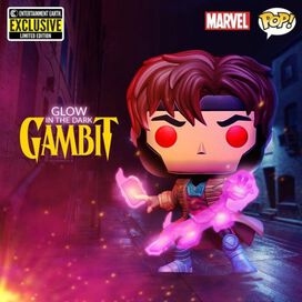 Funko Pop!: X-Men - Gambit [Glow in the Dark] [Entertainment Earth Exclusive]