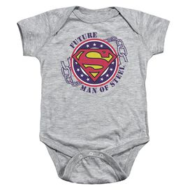 Superman Future Man Of Steel Infant Snapsuit Athletic Heather Md