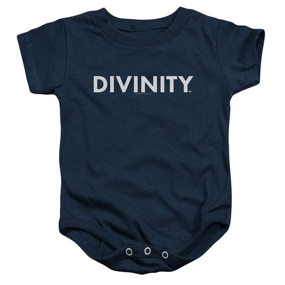 Valiant Divinity Logo Infant Snapsuit Navy