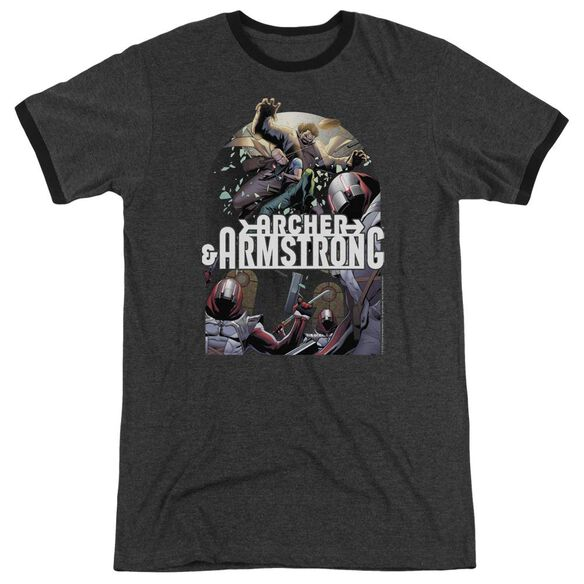 Archer & Armstrong Dropping In Adult Heather Ringer Charcoal