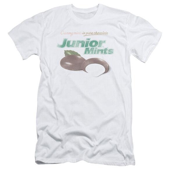 TOOTSIE ROLL JUNIOR MINTS LOGO - S/S ADULT 30/1 - WHITE T-Shirt